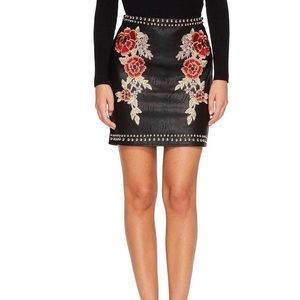 Romeo+Juliet Couture Studded Rose Skirt